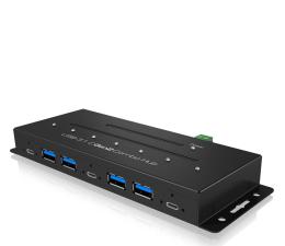 Hub USB ICY BOX HUB Przemysłowy USB-C, USB (7 portów)