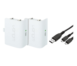 Akcesorium do pada Venom XBO Twin Battery Pack + 2 metrowy kabel - white
