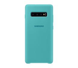 Etui/obudowa na smartfona Samsung Silicone Cover do Galaxy S10+ zielony