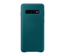 Etui/obudowa na smartfona Samsung Leather Cover do Galaxy S10 zielony