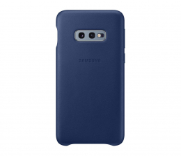 Etui/obudowa na smartfona Samsung Leather Cover do Galaxy S10e granatowy