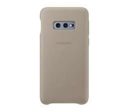 Etui/obudowa na smartfona Samsung Leather Cover do Galaxy S10e szary