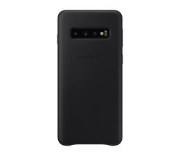 Etui/obudowa na smartfona Samsung Leather Cover do Galaxy S10 czarny
