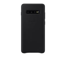 Etui/obudowa na smartfona Samsung Leather Cover do Galaxy S10+ czarny