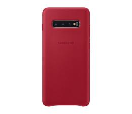 Etui/obudowa na smartfona Samsung Leather Cover do Galaxy S10+ czerwony