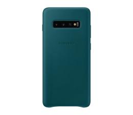 Etui/obudowa na smartfona Samsung Leather Cover do Galaxy S10+ zielony