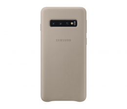 Etui/obudowa na smartfona Samsung Leather Cover do Galaxy S10 szary