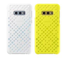 Etui/obudowa na smartfona Samsung Pattern Cover do Galaxy S10e biało żólty