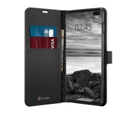 Etui / obudowa na smartfona Spigen La Manon Wallet Saffiano do Galaxy S10+ Black