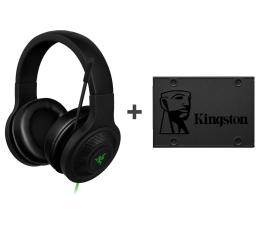 """Słuchawki przewodowe Razer Kraken Essential + 480GB 2,5"""" SATA SSD A400"""