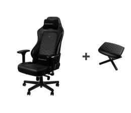 Fotel gamingowy noblechairs HERO Gaming (Czarno-Biały) + Podnóżek