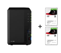 Dysk sieciowy NAS / macierz Synology DS218+ 12TB (2xHDD, 2x2-2.5GHz, 2GB, 3xUSB, 1xLAN)