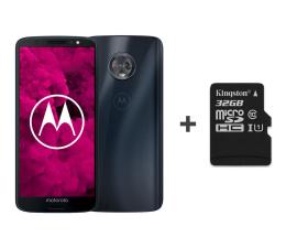 Smartfon / Telefon Motorola Moto G6 3/32GB Dual SIM granatowy + etui + 32GB