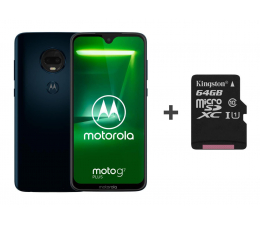 Smartfon / Telefon Motorola Moto G7 Plus 4/64GB DS granatowy + etui + 64GB