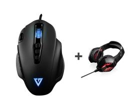 Myszka przewodowa MODECOM GMX5 BEAST + Słuchawki SWORD