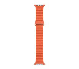 Pasek/bransoletka Apple Opaska skórzana pomarańczowa  do koperty 44 mm M