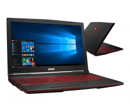 "Notebook / Laptop 15,6"" MSI GL63 i5-9300H/16GB/1TB+256/Win10X GTX1650"