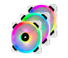 Wentylator do komputera Corsair LL120 RGB White Triple Fan Kit + Lighting Node PRO