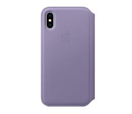 Etui / obudowa na smartfona Apple iPhone XS Leather Folio liliowe