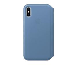 Etui / obudowa na smartfona Apple iPhone XS Leather Folio niebieskie