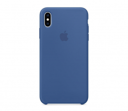 Etui/obudowa na smartfona Apple iPhone XS max Silicone błękitne