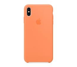 Etui / obudowa na smartfona Apple iPhone XS max Silicone pomarańczowe