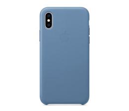 Etui / obudowa na smartfona Apple iPhone XS Leather Case niebieskie