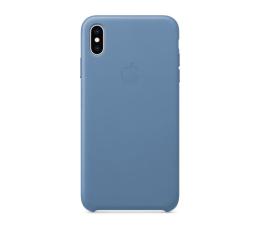 Etui / obudowa na smartfona Apple iPhone XS max Leather Case niebieskie