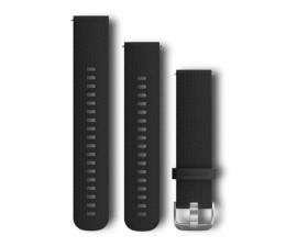 Pasek / bransoletka Garmin Pasek silikonowy czarno-srebrny do koperty 20mm