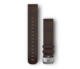 Pasek / bransoletka Garmin Pasek skórzany ciemno-brązowy do koperty 20mm