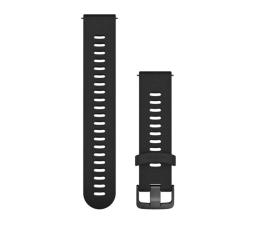 Pasek / bransoletka Garmin Pasek silikonowy czarno-popielaty do koperty 20mm
