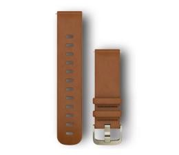 Pasek / bransoletka Garmin Pasek skórzany jasnobrązowy do koperty 20mm