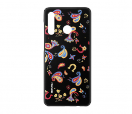 Etui/obudowa na smartfona Huawei Plecki Dekoracyjne do Huawei P30 Lite Flower Black