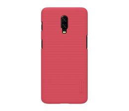 Etui/obudowa na smartfona Nillkin Super Frosted Shield do OnePlus 6T czerwony
