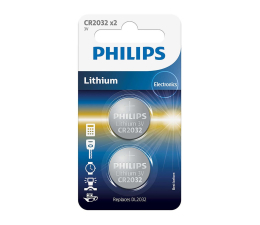 Bateria alkaliczna Philips Lithium button cell CR2032 (2szt)