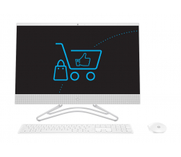 All in One HP 24 AiO i3-8130/4GB/1TB MX110 IPS White