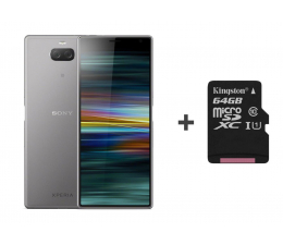 Smartfon / Telefon Sony Xperia 10 Plus I4213 4/64GB DS srebrny + 64GB