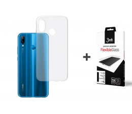 Etui/obudowa na smartfona 3mk Zestaw Clear Case + Flexible Glass do P20 Lite