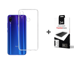 Etui/obudowa na smartfona 3mk Zestaw Clear Case + Flexible Glass do Redmi Note 7