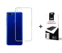 Etui/obudowa na smartfona 3mk Zestaw Clear Case + Flexible Glass do Y5 2018