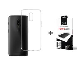 Etui/obudowa na smartfona 3mk Zestaw Clear Case + Flexible Glass do OnePlus 6t