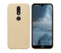 Etui/obudowa na smartfona Nillkin Super Frosted Shield do Nokia 4.2 złoty