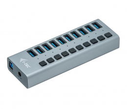 Hub USB i-tec HUB USB 3.0 (10 portów, ładowanie do 10W)