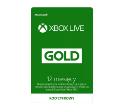 Abonament/PrePaid do konsoli Microsoft XBOX Live GOLD 12 mc ESD