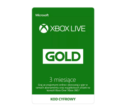 Abonament/PrePaid do konsoli Microsoft XBOX Live GOLD 3 mc ESD