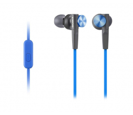 Słuchawki przewodowe Sony MDR-XB50AP Niebieskie