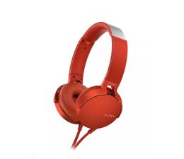 Słuchawki przewodowe Sony MDR-XB550AP Czerwone