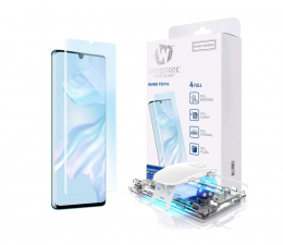 Folia/szkło na smartfon Whitestone Szkło Hartowane Dome Glass + UV do Huawei P30 Pro