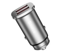 Ładowarka do smartfonów Baseus Ładowarka samochodowa 2x USB, QC 3.0 (srebrny)