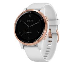 Zegarek sportowy Garmin vivoactive 4S różowozłoty - biały
